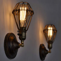 Retro Wall Lamp Brown LED Chandelier Lighting Lobby Wall Sconce Proch Mini Light