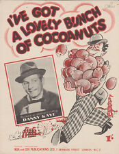 DANNY KAYE  Sheet Music 'I've got a lovely bunch of cocoanuts' Fun Song 1944/48