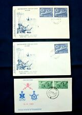 Three India FDC 'They Defend & Navy Day' Stamps Series 1963/68 - Poona