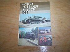 Calendrier Automobile Moteur livre de DDR 1977 SIMSON W50 NVA WARTBURG trabant
