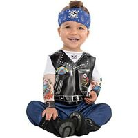 Baby Biker Boys Fancy Dress Gangster Punk Toddler Infant Costume (12-24 Months)