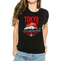 Tokyo I don't speak Japanese Women's T-Shirts Tops Cotton Short Sleeve Tee white