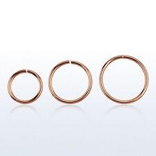 Nasenring 925er Silber/Rosegold Plated 0,8mm x 8mm/10mm/12mm Piercing RSSEL20