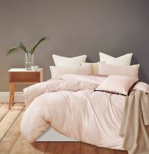 Gioia Casa Jersey Cotton Queen Bed Quilt Cover Set - Pink Marble