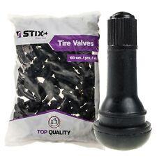 100x Gummiventile TR413 Snap-In Reifenventile Ventile für Schlauchlose Reifen