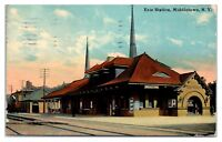 Early 1900s Erie Station, Middletown, NY Postcard