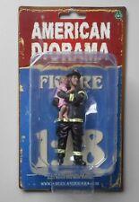 "FIREFIGHTER SAVING LIFE AMERICAN DIORAMA 1:18 Scale Man 4"" Male Figure"