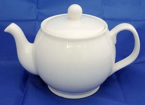 Classic Shape Fine Bone China Plain White 4 Cup Teapot