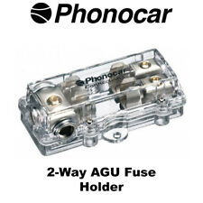 Phonocar 4/487 2-Way AGU Fuse Holder 4AWG Input 8AWG Output Brand NEW