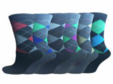 6 Pairs Of Mens Argyle Socks, Cotton Rich Lycra Socks, Size 6-11  Argyle sock