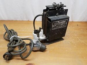 VTG General Electric Tungar Battery Charger SteamPunk Repurpose with bulb