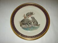 Lenox Porcelain Woodland Wildlife Collectible Raccoons Limited Issue Plate 1973