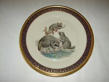 Woodland Wildlife Lenox Porcelain Collectible Raccoons Limited Issue Plate 1973