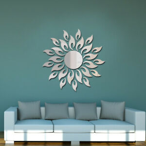 3D Mirror Sun Art Removable Wall Sticker Acrylic Mural Decal Home Room Decor Hot