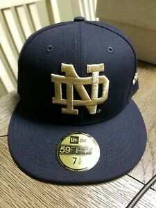 Notre Dame Fighting Irish New Era 59FIFTY Navy Blue Fitted - Size: 7 1/4 (New)