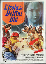 CINEMA-manifesto L'ISOLA DEI DELFINI BLU kennedy, romero, B. CLARK