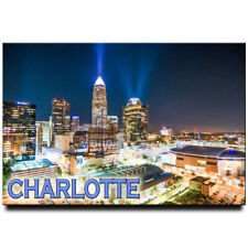 Charlotte fridge magnet North Carolina travel souvenir