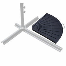 New listing 31lbs 1-Piece Patio Umbrella Base Outdoor Table Pole Resin Cantileve Base Stand