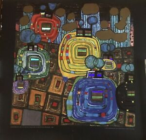 Hundertwasser Pavilions and Bungalows for Natives and Foreigners Art Print Litho