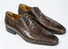 New in Box Moreschi Men's Ostrich Brown Lace Up Shoe 039419 - Size 5 Last Size