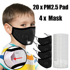 Face Mask Washable Reusable Kids' Cycling Camp Mask+ Filters With Breath Valve