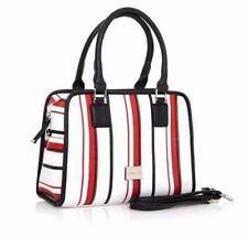 New Maria Mare Designer Handbag Tote Shoulder Bag Doctor Style Red White Black