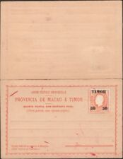 TIMOR, 1892. Formula Reply Post Card H&G 2, Mint