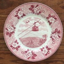 English Staffordshire Ware Franconia Notch NH Pink Plate Aerial Tramway