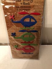 Embellish Your Story By Roeda / Demdaco - Set of 3 Helicopter Magnets - NEW!!