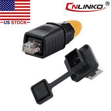 CNLINKO Ethernet Connector RJ45 Plug & Socket Outdoor Waterproof IP67 Fast Data