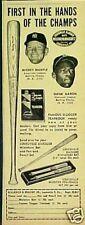 1957 Mickey Mantle~ Hank Aaron Yankees~Braves Louisville Slugger Baseball Bat AD