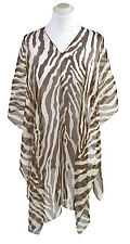 BNWT! PIA ROSSINI BROWN & CREAM MADAGASGAR PONCHO