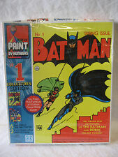 Hasbro 1982 vintage BATMAN #1 collector editon PAINT BY NUMBERS set SEALED MIB !