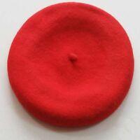 Hot 8 colors Fashion 100% Wool Warm Women Felt French Beret Beanie Hat Cap Tam