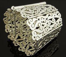 H. Santana Vintage Pierced Sterling Silver Mexican Bracelet
