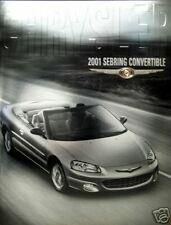 2001 Chrysler Sebring convertible new vehicle brochure