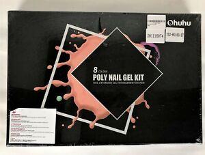 Poly Nail Gel Kit, Ohuhu 8 Colors Nail Gel Kit Enhancement