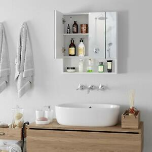 Spiegelschrank Badschrank  Beleuchtung Badspiegel Wandspiegel MDF Holz