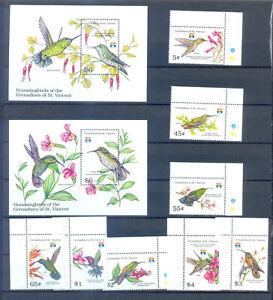 GRENADINES OF ST. VINCENT HUMMINGBIRDS  MNH