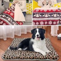 Pet Mat Paw Print Cat Dog Puppy Fleece Soft Warm Blanket Bed Cushion Mattress UK