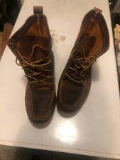 Red Wing x JCrew # 4592 Wabasha Moc-Toe Hand Sewn Boots sz 12 US MENS Wacouta