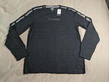 Hollister Men's Long Sleeve Ombre Logo T-Shirt NA8 Black Small NWT