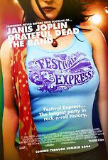 FESTIVAL EXPRESS (2003) ORIGINAL MOVIE POSTER  -  ROLLED