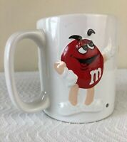 Rare Collectible Mars M&M's Ceramic 3D Coffee Mug Cup Red Yellow Blue