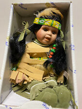 GOLDEN KEEPSAKES Little Cubs NATIVE AMERICAN INDIAN girl DOLL Vintage~NEW in BOX