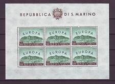 SAN MARINO 1961 FOGLIETTO EUROPA ** INTEGRO PERFETTO  FRESCHISSIMO ...MNH VF