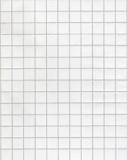 Foglio laminato Tile Bianco 12 x 17 INS per casa delle bambole in scala 12th, NUOVO