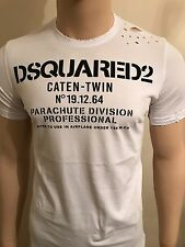 """Dsquared2 Low Speed Parachute Distressed Tshirt Cap 2017 LIMITED XXL 44"""" Chest"""
