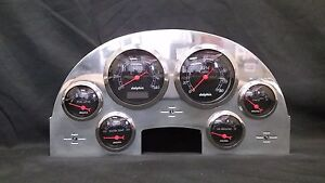 1956 Ford Car 6 Gauge Dash Panel Insert Polished Aluminum Programmable Black