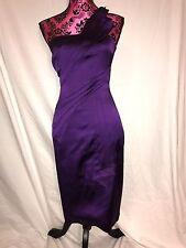 Karen Miller Purple One Shoulder Dress 6